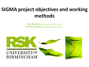 Project objectives and working methods