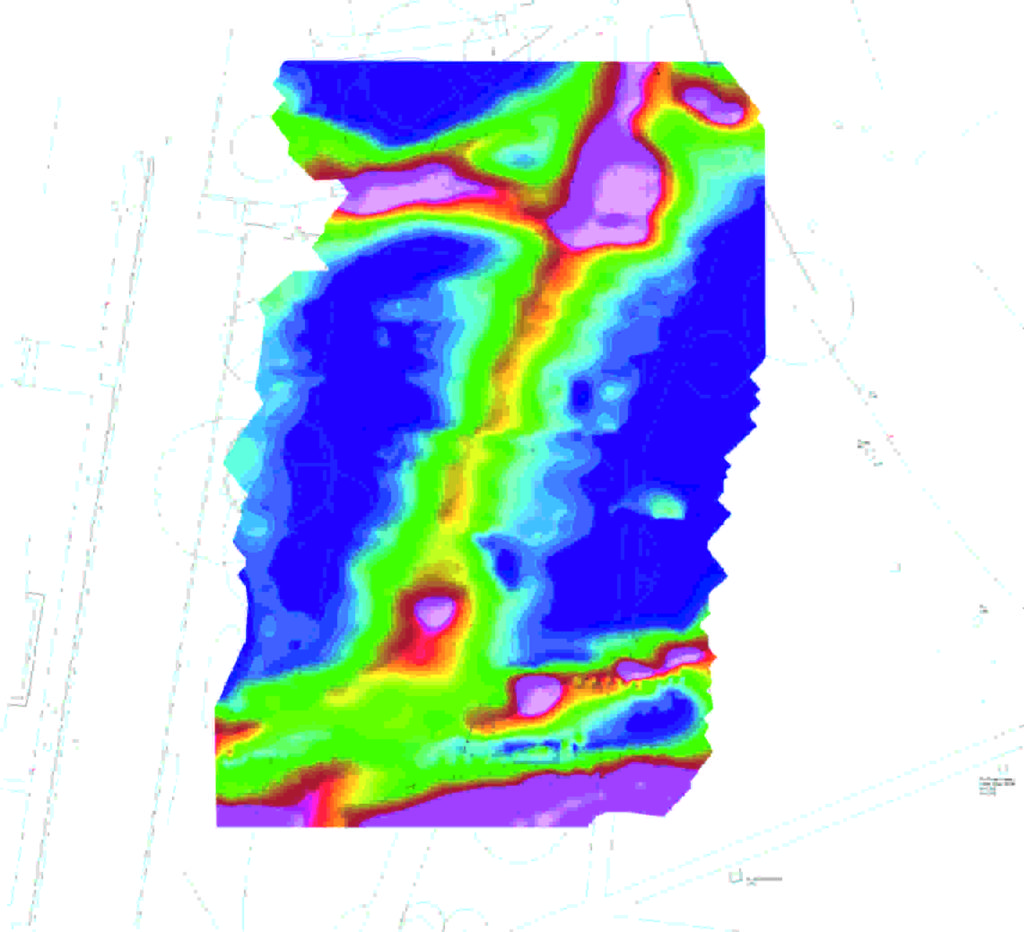 Electromagnetic Conductivity map of the test site